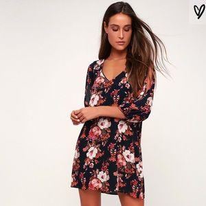 Lulus Shifting Dears Floral Print Dress